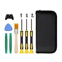 Juego de destornilladores E. Durable T8 T6 T10 para Xbox One Xbox 360 Controller y PS3 PS4, herramienta de palanca segura y cepillo de limpieza