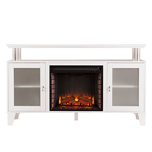 Stand Fireplace Brick (Southern Enterprises Cabrini Media Electric Fireplace 60