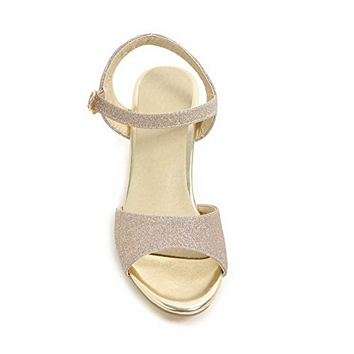 AdeeSu SLC03807 Sandals Solid Womens Cold Urethane Lining Gold Studded q4g6qZ