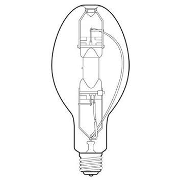 Ge Lighting 43828 400 Watt 33100h 36000v Lumen Ed37 Light Bulb With