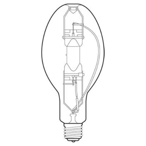 GE Lighting 43828 400-watt 33100H/ 36000V-Lumen ED37 Light Bulb with Mogul Screw E39 Base, Pack of 6 by GE Lighting