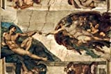 """1000 Piece Jigsaw Puzzle, 19.6"""" X 29.5"""" - The Creation of Adam"""