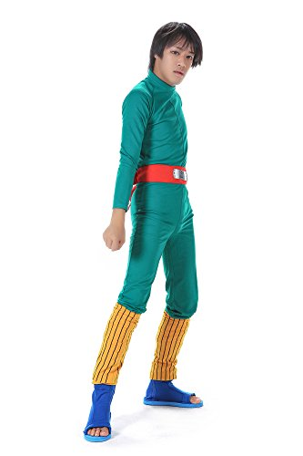 SDWKIT Naruto Shippuden Hidden Leaf Shinobi Rock Lee Outfit 1st Ver Set