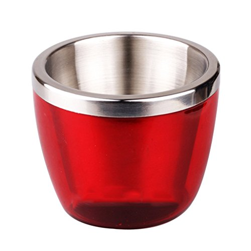 800 Champagne - MonkeyJack Stainless Steel Mini 800ml Ice Bucket Wine Cooler Champagne Cooler - Red