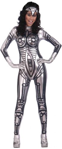 Forum Outta Space Female Robot Costume, Gray, One Size (Space Alien Costume)