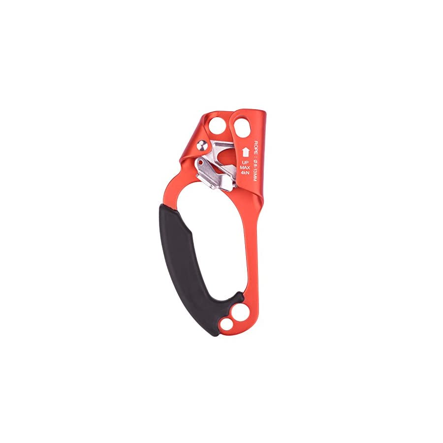 Climbing Hand Ascender, Smart Designed Rock Climbing Tree Arborist Rappelling Gear Equipment Rope Clamp for 8 12MM Rope