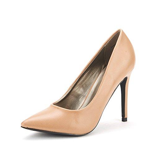 DREAM PAIRS CHRISTIAN Women's Classic Fashion Pointed Toe High Heel