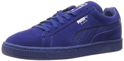 PUMA Men's Suede Classic Mono Reptile Fashion Sneaker, Mazarine Blue Silver, 4 M US from PUMA