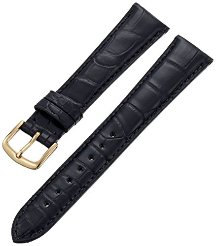 Genuine Louisiana Alligator - Hadley-Roma Men's MS2005RA-190 19-mm Black Genuine Alligator Leather Watch Strap