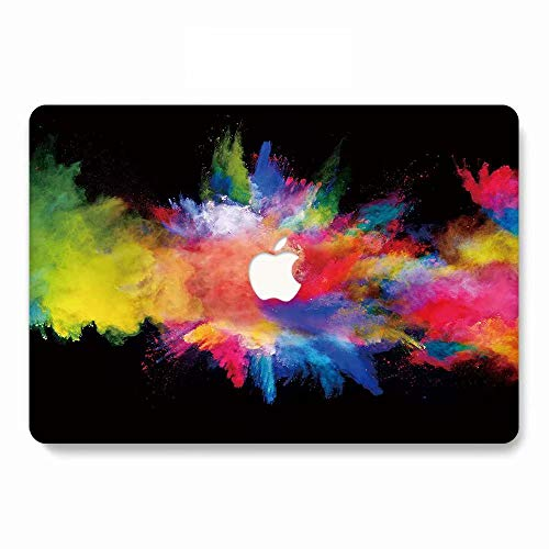 MacBook Pro 13 Case 2018 2017 2016 Model A1989/A1706/A1708, AJYX Sparkling Plastic Hard Case Shell Cover Compatible Newest MacBook Pro 13 Inch with/Without Touch Bar and Touch ID, ws33 Watercolor (Sparkling Watercolor)