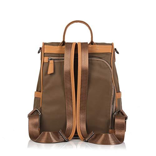Wind Coser Oxford Simple Dinero Mujer Estudiante College Mochila Bolso Viaje Brown Handbag Girl Cloth De I1apqP
