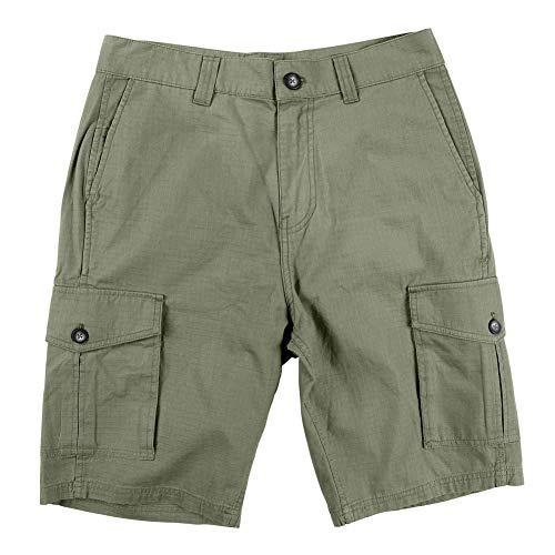 (LRG Men's RC Ripstop Cargo Shorts Deep Lichen Green)