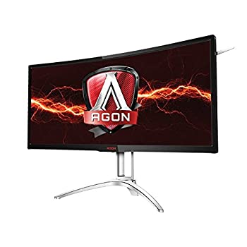 Image of Monitors AOC Agon AG352UCG6 35' Curved Gaming Monitor, 1800R, Uwqhd 3440x1440 VA Panel, G-Sync, 120Hz, 4ms, DisplayPort/HDMI
