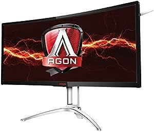 "AOC Agon AG352UCG6 35"" Curved Gaming Monitor, 1800R, Uwqhd 3440x1440 VA Panel, G-Sync, 120Hz, 4ms, DisplayPort/HDMI"