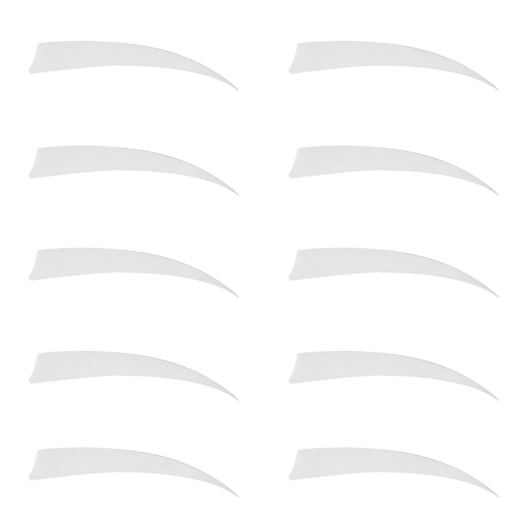 MagiDeal 10 Piezas Plumas para Flecha Derecha Objetivo Fletchings de Plumas de Tiro 5 Pulgadas Azul