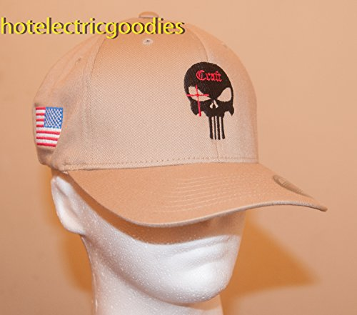 L/XL Chris Kyle Tan Official LONG TEETH Khaki Cap Hat Craft - Import