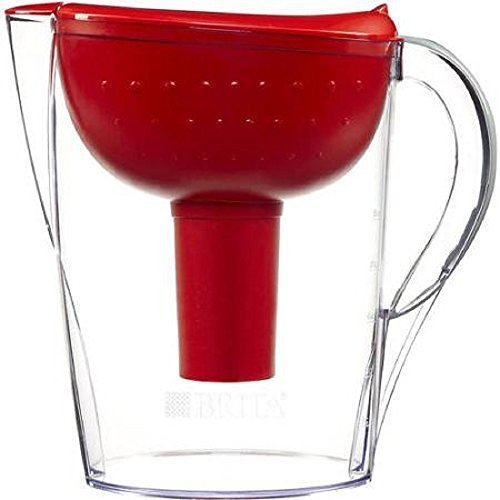 Brita Pacifica 10 Cup Water Filter Pitcher (Red) by Brita