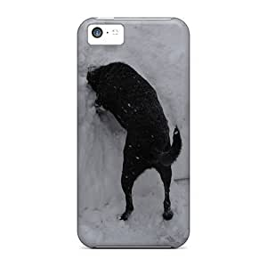Personality customization New Style Defender Hard Case Cover For Iphone 5c- Dog In Snow Bank At J-15 Cases