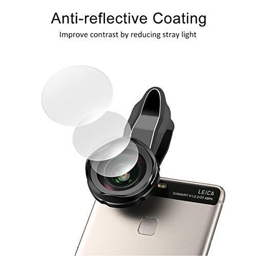 Lentes para Móviles,Blitzwolf Lente Gran Angular de 120-Grados Lente de Cámara Profesional 4k HD para iPhone SE/7/7 Plus/6S Plus/6S/6/5S/5C/5, Samsung Galaxy S5/S6/S6 Edge, Note4/5, LG, HTC, Moto, Nexus, Sony Xperia