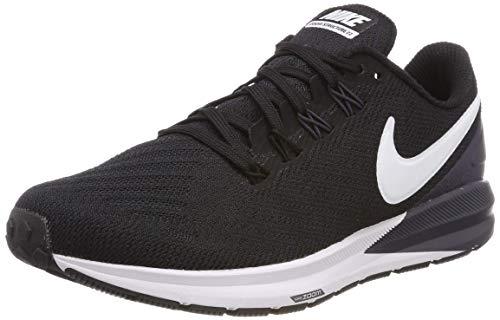 Nike Air Zoom Structure 22 Women's Running Shoe Black/White-Gridiron 6.0
