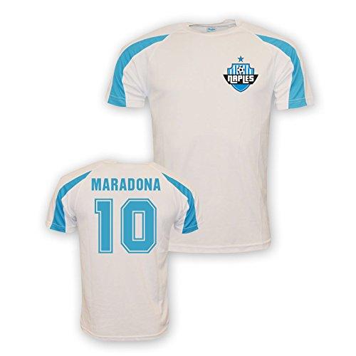 Diego Maradona Napoli Sports Training Jersey (white)
