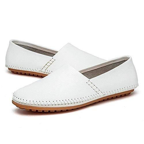 Mocasines para hombres Zapatos, Minimalismo para hombres Mocasines Cuero de PU Noble Cómodo Color puro Moda Mocasines para botes de conducción Zapatos ...