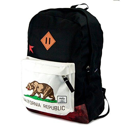 Benteng California Travel Backpack Light Weight Fashion Hiking Daypack School Bag  Black