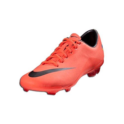 (Nike Kids's JR Mercurial Vapor III FG Soccer Shoes 6 (Brght MNG/MTLC DRK)