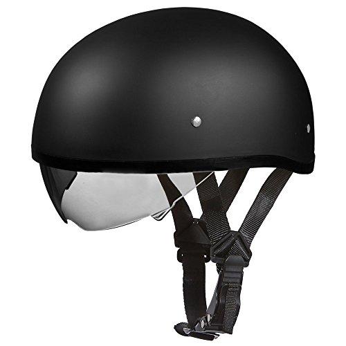 D.O.T. DAYTONA SKULL CAP W/INNER SHIELD- DULL - Skull Daytona Cap Helmets