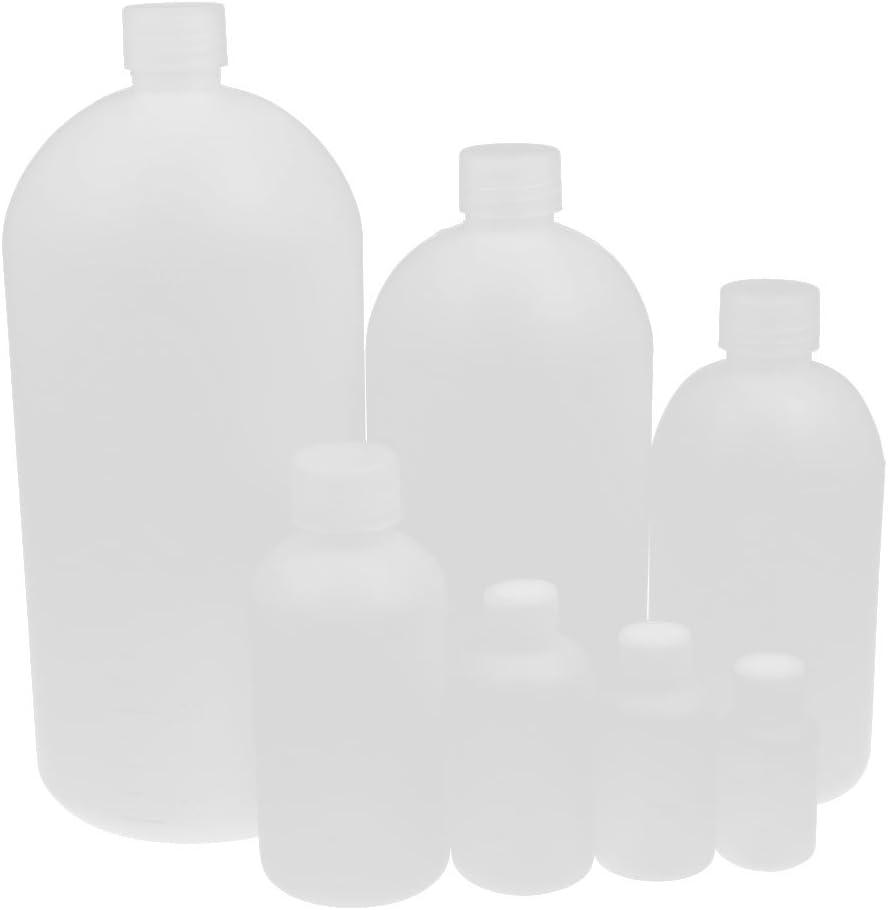 Aexit Kit de plástico Boca pequeña Botella de muestra de botella de reactivo de (model: I4525XIII-6413JN) laboratorio químico Blanco