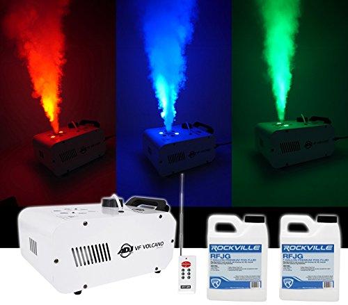 American DJ ADJ Fog Smoke Machine w/ LEDs, Pyro FX, Color Mixing+(2) Gal. Fluid by American DJ
