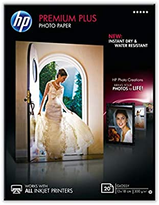 HP Premium Plus CR676A - Papel Fotográfico Brillante (20 Hojas, 13 ...
