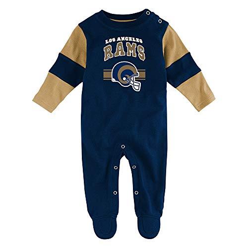 Outerstuff St Louis Rams NFL Newborn Navy Blue Team Believer Long Sleeve Coverall ()