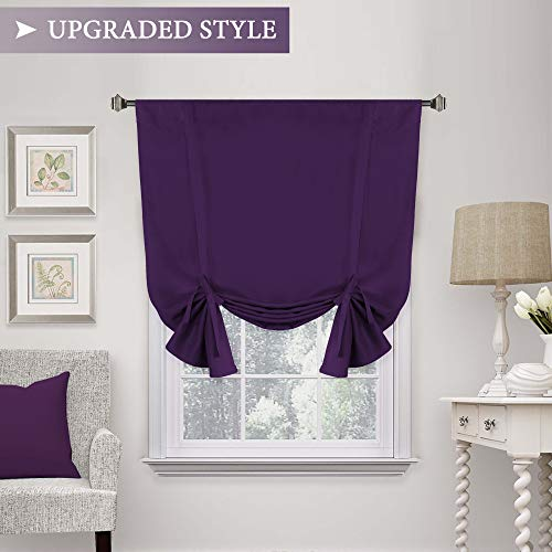 H.VERSAILTEX Blackout Innovated Tie Up Shade & Curtain (Thermal Insulated Rod Pocket Curtain Panel)-42