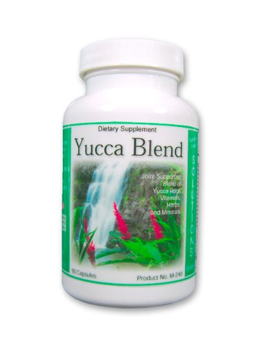 Extrait de racine de yucca, Yucca Blend, Amazing Natural chélaté, Supplément Dépuration des Reins, Nettoyage du Foie et de désintoxication avec MSM, extrait d'aloès et sels cellulaires homéopathiques 90ct