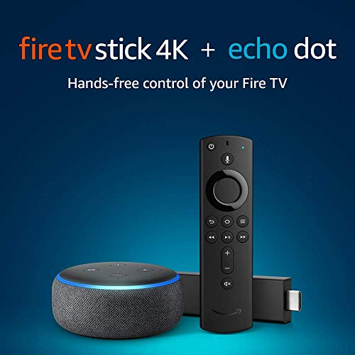 Fire TV Stick 4K bundle with Echo Dot (3rd Gen - Charcoal)
