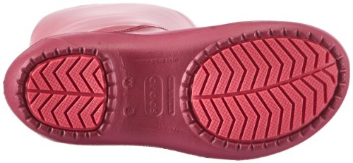 crocs Damen Rainfloe Boot Gummistiefel Rot (Pomegranate/Pomegranate 6D9)