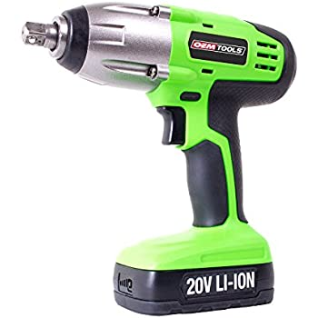 OEMTOOLS 24662 20V Max Lithium-Ion 1/2 Inch Drive Cordless Impact Wrench