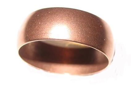 Amazon.com: Banda Anillo de cobre macizo Pure fabricado en ...