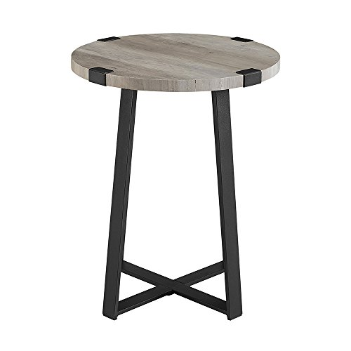 WE Furniture AZF18MWSTGW Side Table, Grey Wash by WE Furniture (Image #3)