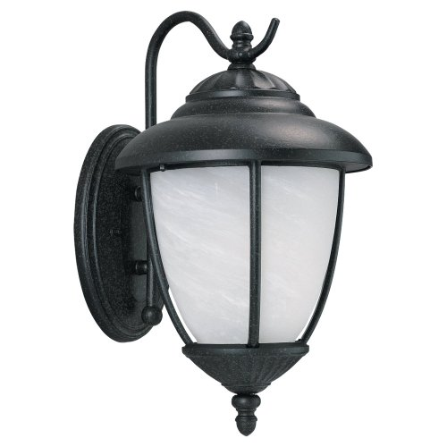 Sea Gull Lighting 84050-185 Yorktown Outdoor Wall Sconce, Forged Iron