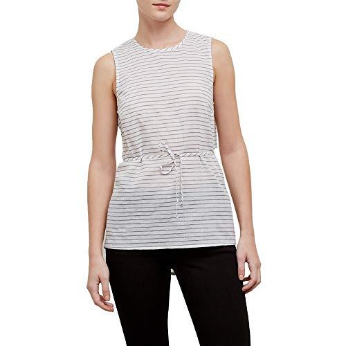 Kenneth Cole Women's Tie Back, top Stripe/White M (Summer Hamptons Stripe)