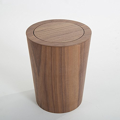 Garbage can Wooden Trash can,Simple Creative Japanese Style dustbin Home Living Room Bedroom Office Storage Bucket Waste bin-G 23.5x30cm(9x12inch) by Ging (Image #1)