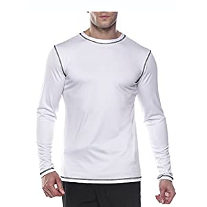Coofandy Men's Quick-Dry Rash Guard Swim T-Shirts Surf UPF 50 Long-Sleeve Tee