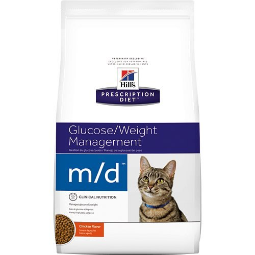 Hill's Prescription Diet m/d Glucose Weight Management Chicken Flavor Dry Cat Food 8.5 lb by Hill's Pet Nutrition