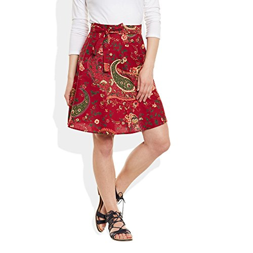 Womens Cotton Printed Around Maroon product image