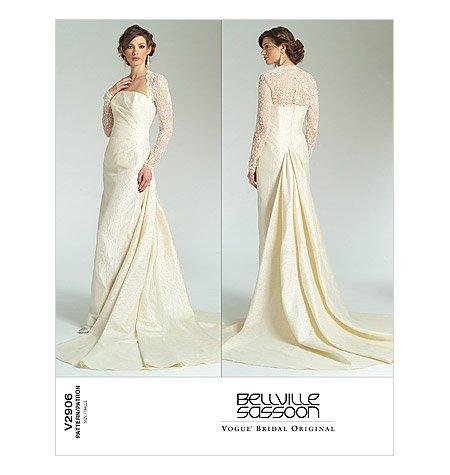 vogue-sewing-pattern-2906-misses-size-18-22-bellville-sassoon-bridal-original-wedding-gown-dress