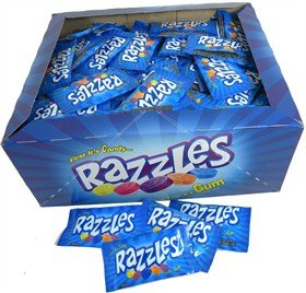 Razzles Candy Packs, 2 Pieces each Packet (50 small Packets) (Candy Treat Ideas)
