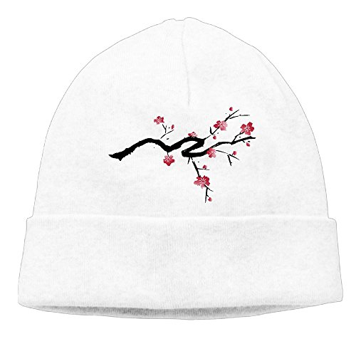 KKalobnm Japanese Cherry Blossom Clipart Men's&Women's Knit Beanie Caps Winter Warm Daily - Beanie Cherry Black