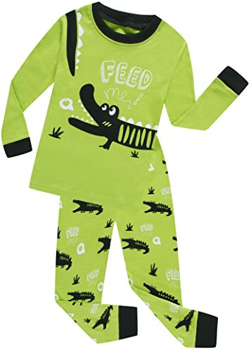 Alligator Long Sleeve - Boys Alligator Pajamas Sets 100% Cotton Pjs Toddler Kids Pj Long Sleeves Sleepwear Size 2t